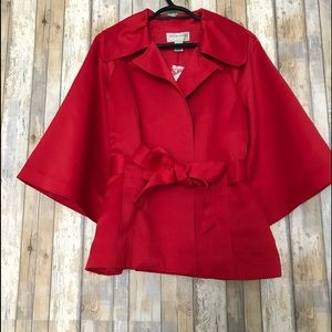 QVC victor costa red pea coat | M